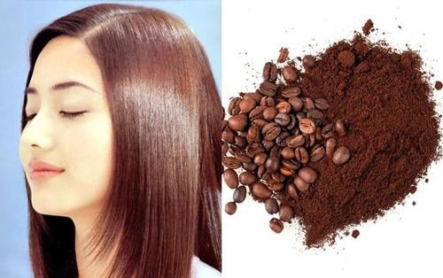 Giúp tóc nhanh dài hơn với bột cà phê