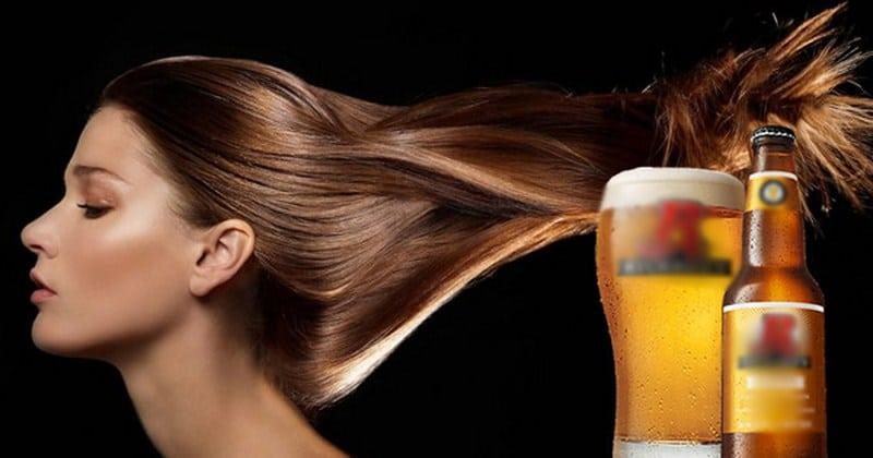 cách nuôi tóc dài nhanh bằng bia
