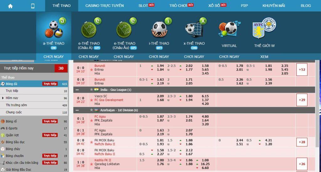 Cá cược thể thao online W88