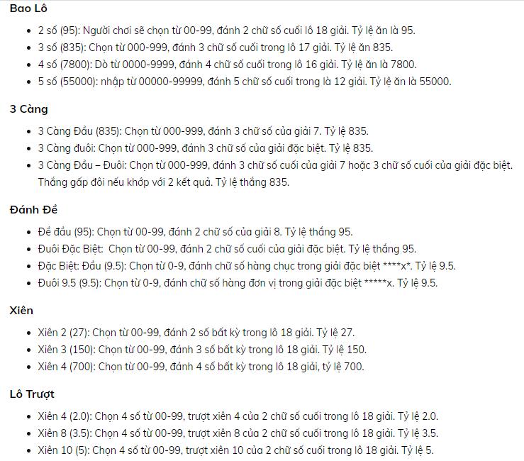Tỷ lệ ăn khi ghi số đề trực tuyến tại W88