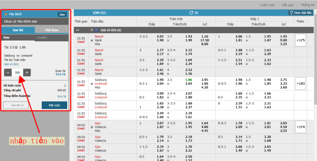 Web cá độ bóng đá tại W88