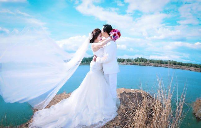 chụp ảnh cưới ở hồ đá